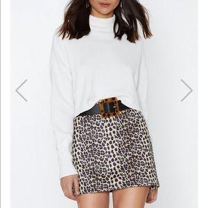 Leopard Print Skirt